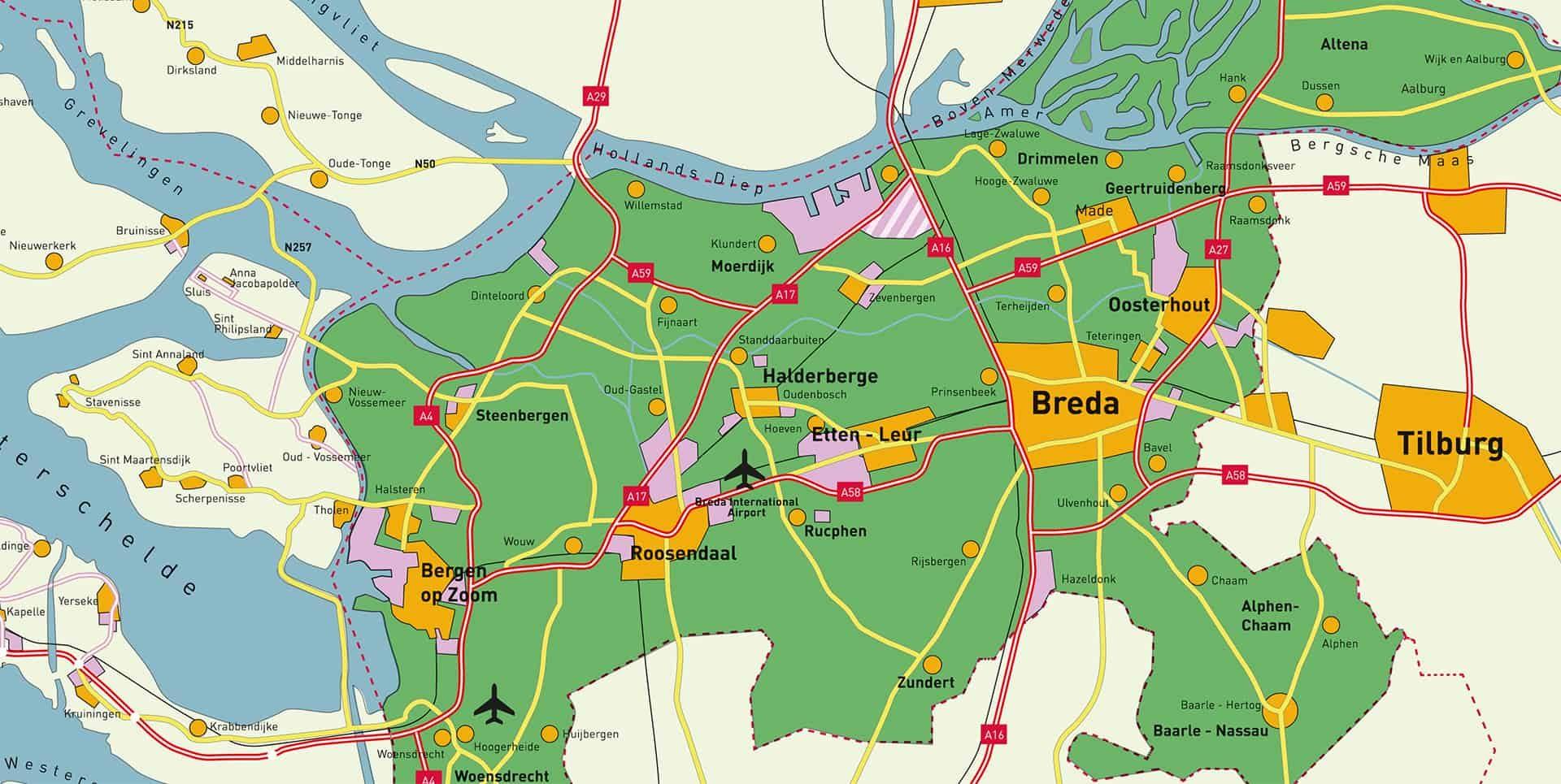 West-Brabant liggend 1920-965 uitsnede